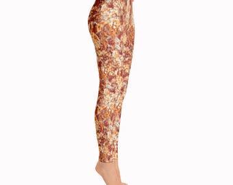 Pizza Leggings / Food Leggings / Fun Leggings / Printed Leggings / Women Leggings / Unique Leggings / Fast Food Leggings