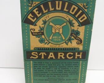Antique Box Celluloid Starch April 14th, 1905 Patent  Net Wt. 6 oz