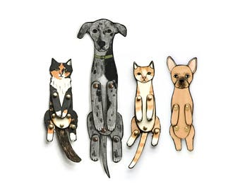 Paper Doll Pet Portrait (add to your custom paper doll order)
