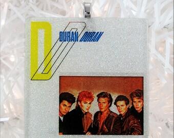 CUSTOM Album Cover glass and glitter ornament
