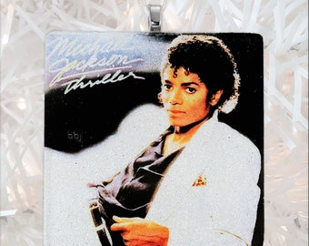 Michael Jackson-Thriller Album Cover Glass Ornament