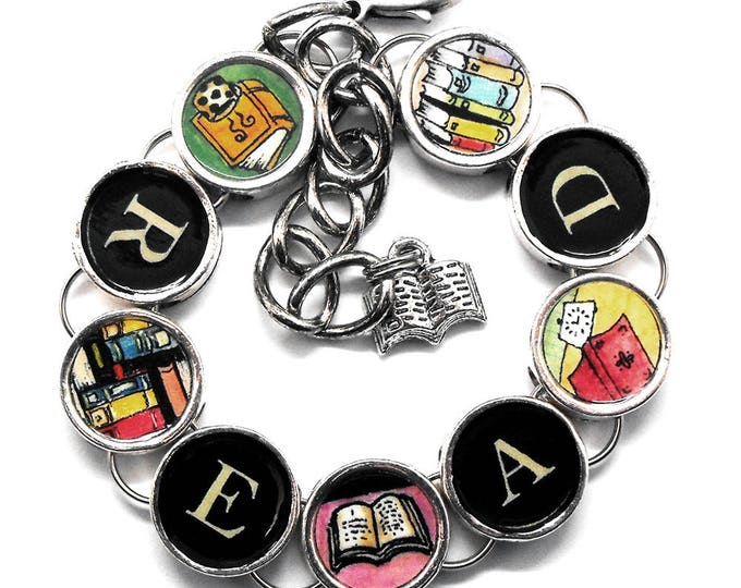 Read Bracelet Book Readers Jewelry Bibliophile