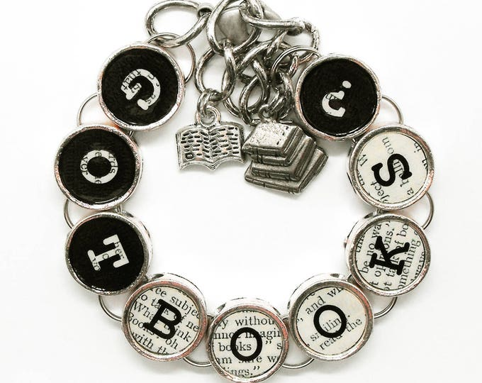 Got Books Bracelet Bookish Book Lover Gift Readers Writers Literary Themed Charm Jewelry