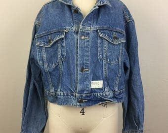 Vintage 80s ESPRIT Crop Denim Jacket L