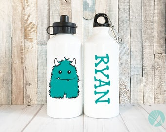 Personalized Monster, Personalized Water Bottle, Monster Cup, Kids Water Bottle, Custom Water Bottle, Christmas Gifts, Water Bottle for Boys