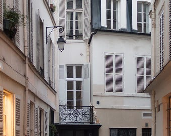 Paris Photography, Left Bank Paris at Dusk, soft blue and grey tones, French Deco, Paris Wall Art, Paris Photography Print