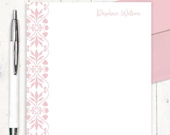 personalized notePAD - DARLING DAPHNE - stationery - stationary - letter writing paper - gift for her - choose color