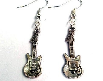 Electric guitar earrings - musical earrings - rock earrings