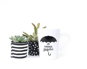 In Omnia Paratus Mug - Gilmore Girls Coffee Mug - Rory Gilmore - 14oz Ceramic Mug - Gifts for Her - Coffee Cup