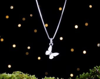 Sterling Silver Butterfly Charm - Small, Double Sided - (Charm, Necklace or Earrings)