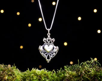 Sterling Silver Irish Claddagh - (Pendant, Necklace or Earrings)