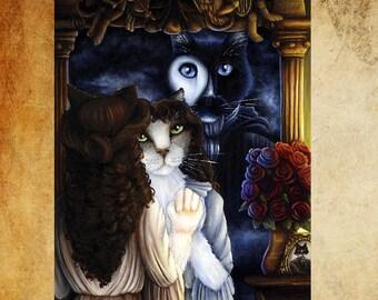 Phantom of the Opera Cats Fine Art Print 5x7
