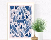 Camouflage Cat Pattern Poster