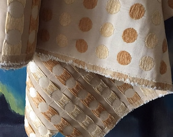 "2 + yds Decorator Pillow making Fabric 30"" Width Remnant Yellow Oyster KRAVET Jacquard - Sewing Upholstery Pillows Crafting Holiday"