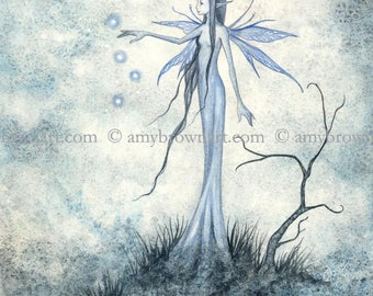 Faerie Lights II fairy 8X10 PRINT by Amy Brown