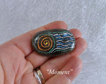 Moment: Hand-Painted Mindfulness Stone
