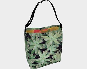 Plant Lady Tote Bag, Over The Shoulder Adjustable Tote Bag, Succulent Photography, Tote Bag, Adjustable Strap Bag, Succulent Tote