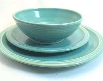 aqua stoneware dinnerware set 3 piece pottery dinnerware set ceramic stoneware dishes stoneware