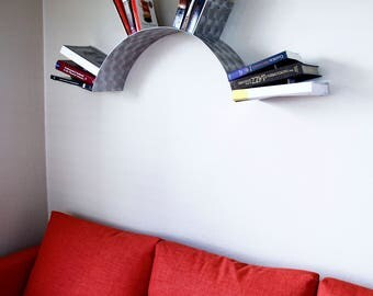 Sun Wall Bookshelf- Engine Turned