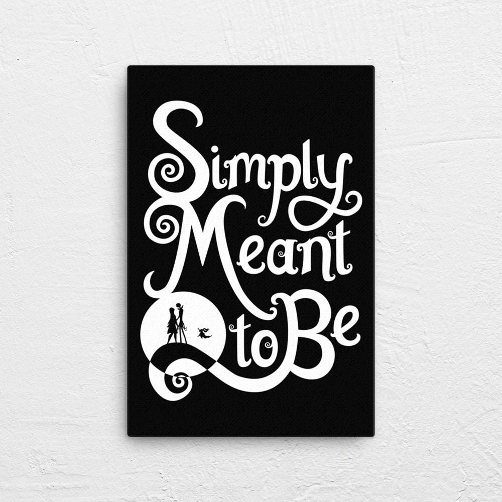 Simply Meant to Be Canvas | Nightmare Before Christmas | Multiple Size Options
