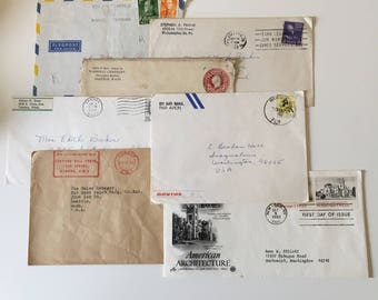 Collection of Vintage Used Envelopes Perfect for Junk Journals Altered Art
