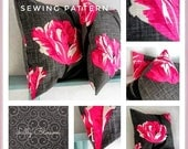 Simple Envelope Style Cushion Cover sewing pattern beginners easy to make lots of close up photographs