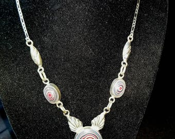 Sterling Silver Necklace featuring Fordite  (aka Detroit Agate)  ~ mrfeld ~ FN30