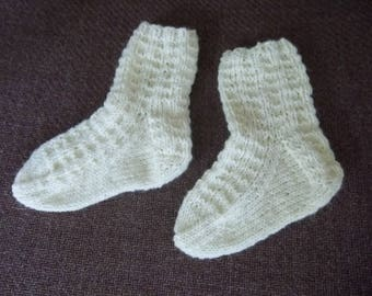 Baby / Toddler Socks - Handknitted Socks  - 2-4 Years - Size 5.5 US Children / 21 EU