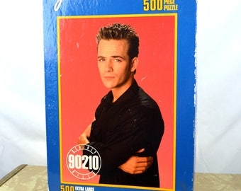 Vintage 90s 1991 Beverly Hills 90210 Sealed NWOT 500-piece Puzzle - Luke Perry