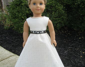 "Ballgown or Party dress with shoes to fit 18"" dolls like American Girl"