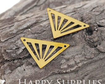 20Pcs High Quality Triangle Pendant Charms / Connector with Two Hole (ZG317)