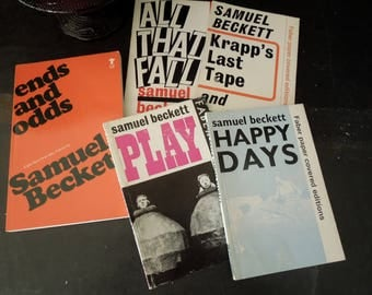 Samuel Beckett Paperback Book Collection - Five Mid Century Avant-Garde Plays - Literary Gift Vintage - Theatre of the Absurd