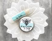Marjoram & Sage Lip Balm // Tube // Tin // Organic // All-natural // Small // Large