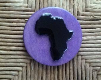 Africa Refrigerator Magnet Purple Wood Color