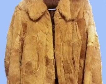 Primitive 70's Southwest Shaggy Cowhide Fur Jacket  sz S -M