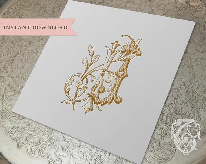Vintage Duogram Wedding Monogram JJ Digital Download J