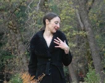 Penny Lane Coat / Penny Lane Jacket/ 70s Coat / 1970s Coat / Faux Fur Collar/ Suede Coat / Coat For Women  / Winter / Jacket /