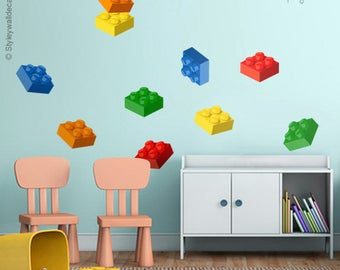 Lego Wall Decal, Building Blocks Wall Decal, Bricks Wall Sticker, Cubes Wall  Decal Part 77