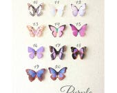 purple silk butterflies . 1-4 hair clips, pins, magnets . your choice . birthday gift, wedding, bridesmaids, parties, every day . handmade