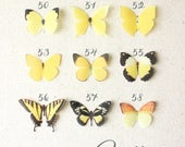 yellow silk butterflies . 1-4 hair clips, pins, magnets . your choice . birthday gift, wedding, bridesmaids, parties, everyday . handmade