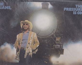 1981 Elektra Records Hank Williams Jr The Pressure Is On Country Music LP Record