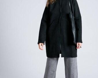 Sweater Jacket / Zipper Jacket / Trench Coat / Wool Jacket / Spring Jacket / Bomber Jacket / Marcellamoda - MC0755