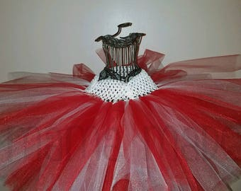 Red and White Christmas Tutu, Candy Cane Tutu, Peppermint Tutu, Christmas Tutu, Girl's Christmas Tutu, Christmas Skirt, Red and White Tutu