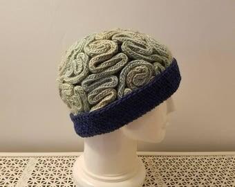 Green Braaaaain hat - adult regular, ready to ship
