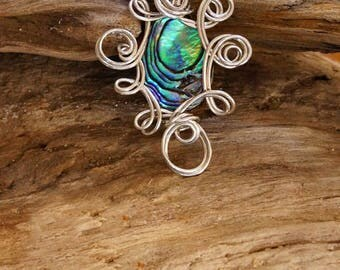 Abalone Necklace,Abalone Pendant,Abalone,Jewelry,Mother of Pearl