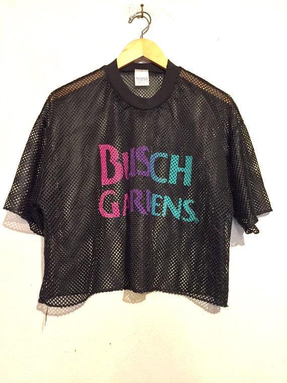 90s Oversized Busch Gardens Mesh Crop Top