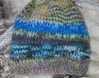 DWA306 Angota Izmit Angora Wool Hand Knit Beanie Hat