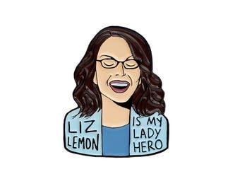 Liz Lemon 30 Rock enamel lapel pin