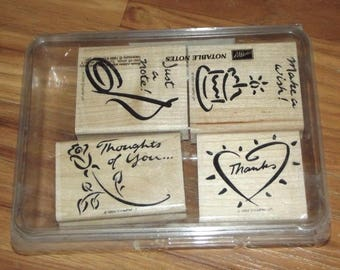 Stampin Up Notable Notes Set of  4-1999