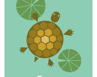 French Turtle Tortue Print